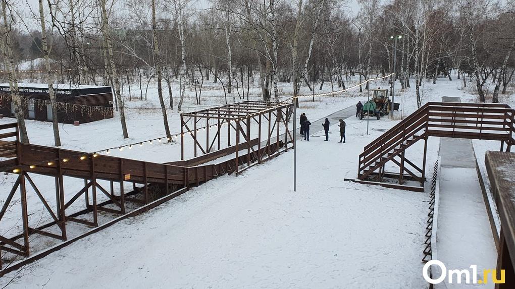 Кросс-тюбинг, каток и ледяные горки. Уже на следующей неделе омичи смогут предаться зимним забавам