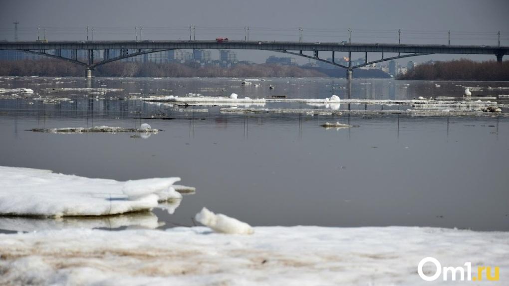 В скованном коронавирусом Омске раньше времени начался ледоход