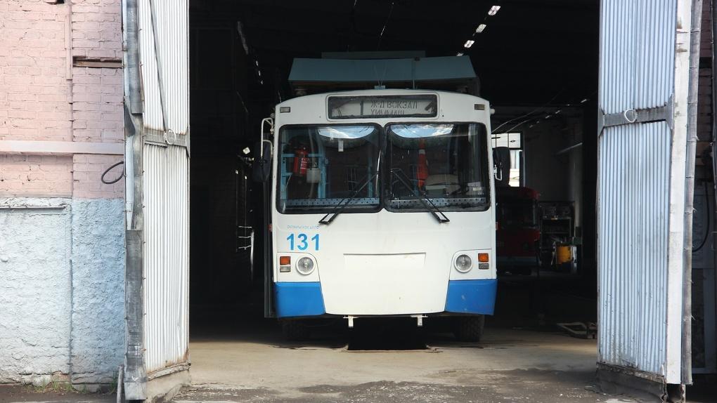 В Омске проведут ремонт троллейбусной линии