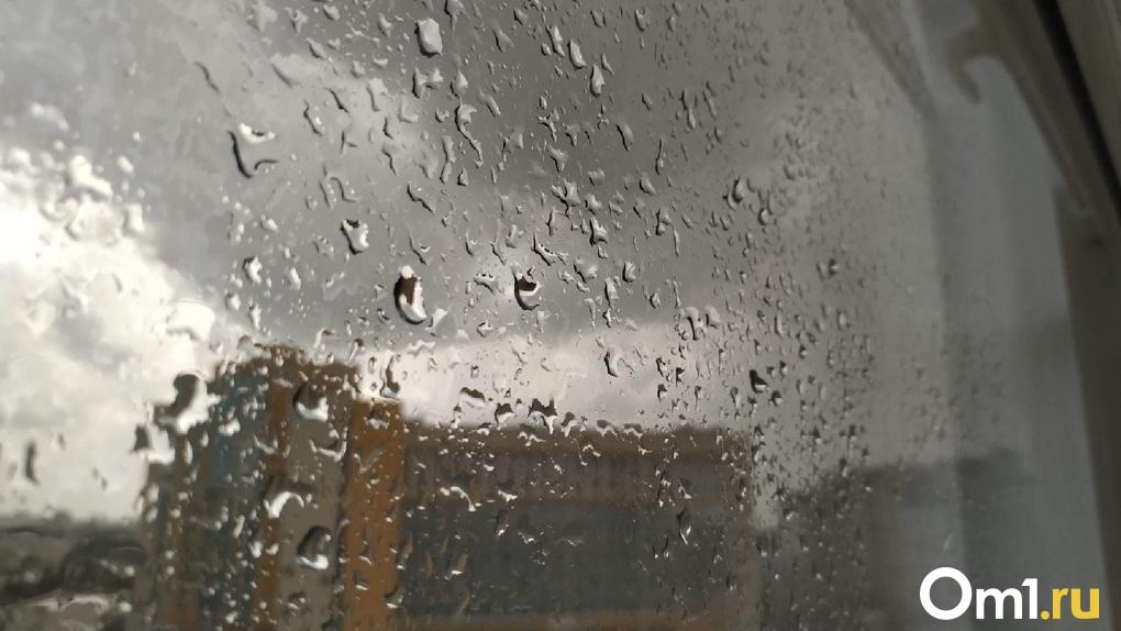 На Омск обрушился долгожданный дождь с грозой. Фото и видео стихии