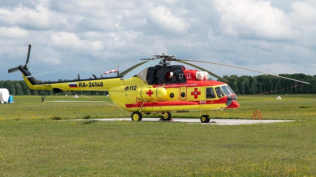 В Новосибирской области пострадавших в ДТП доставляют в больницу на вертолете