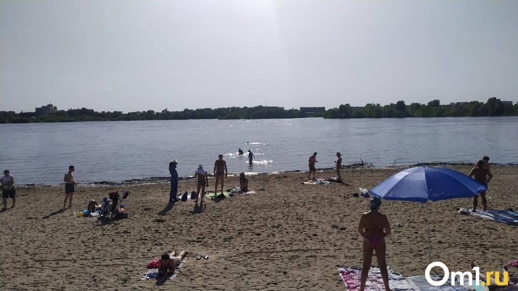 Один пляж открыли для отдыха в Омске