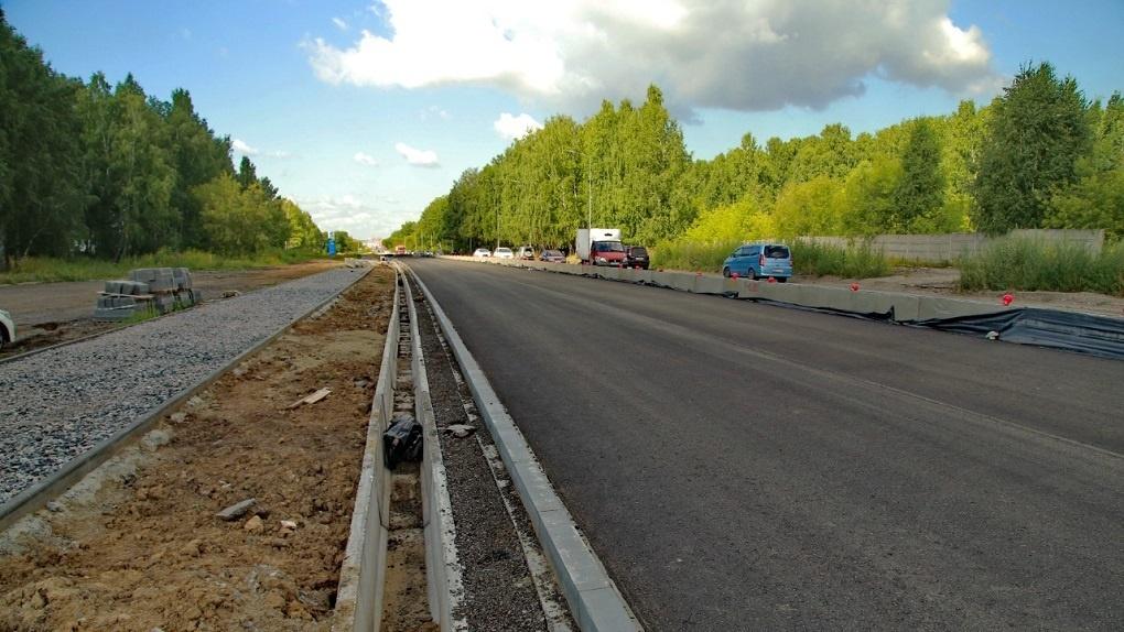 Названа дата окончания реконструкции Гусинобродского шоссе в Новосибирске