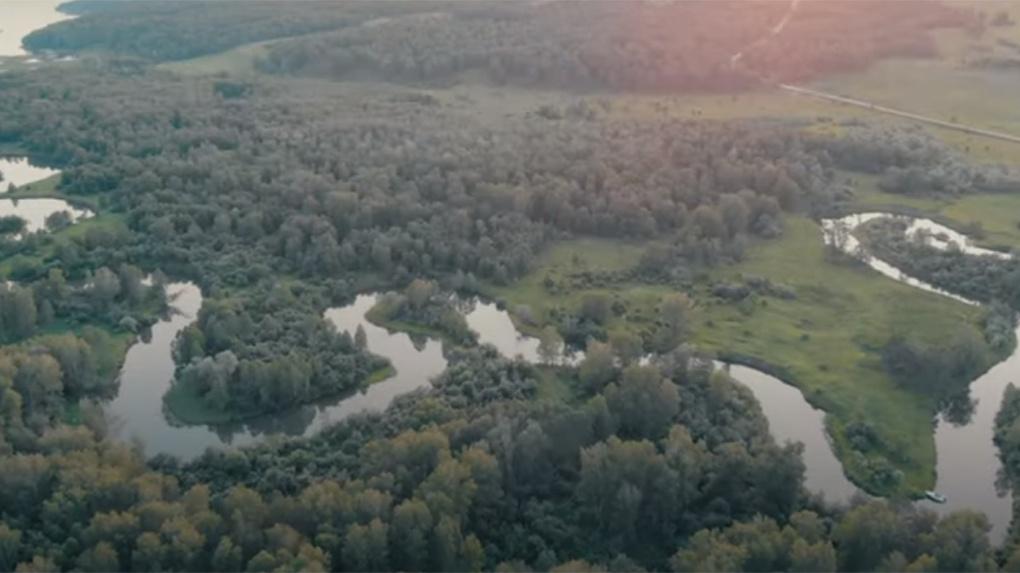 Новосибирец снял реку Коён с высоты птичьего полёта