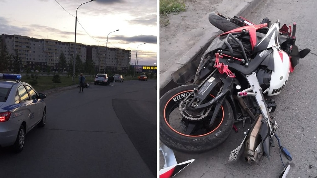 В Омске мотоциклист разбился насмерть, врезавшись в столб. Пассажир в тяжелом состоянии