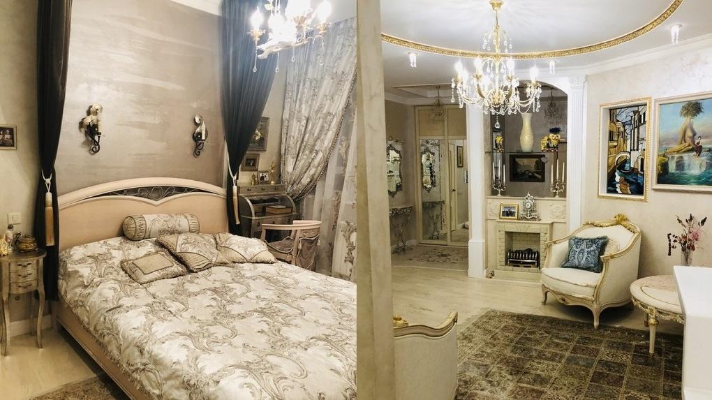 В Омске продают квартиру с авторскими витражами и кроватью king size почти за 13 миллионов