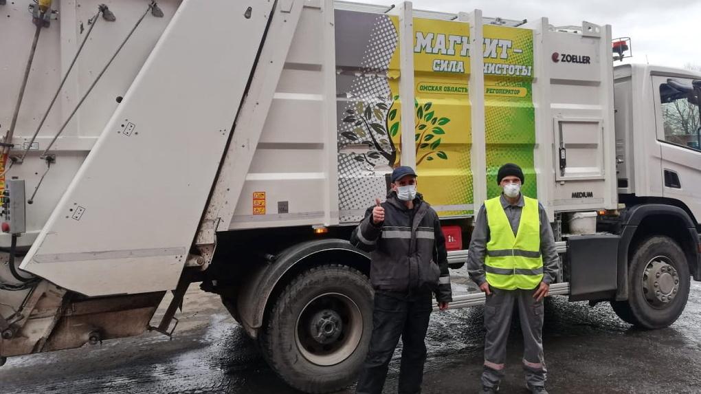 В связи с пандемией омский регоператор усилил контроль за вывозом мусора