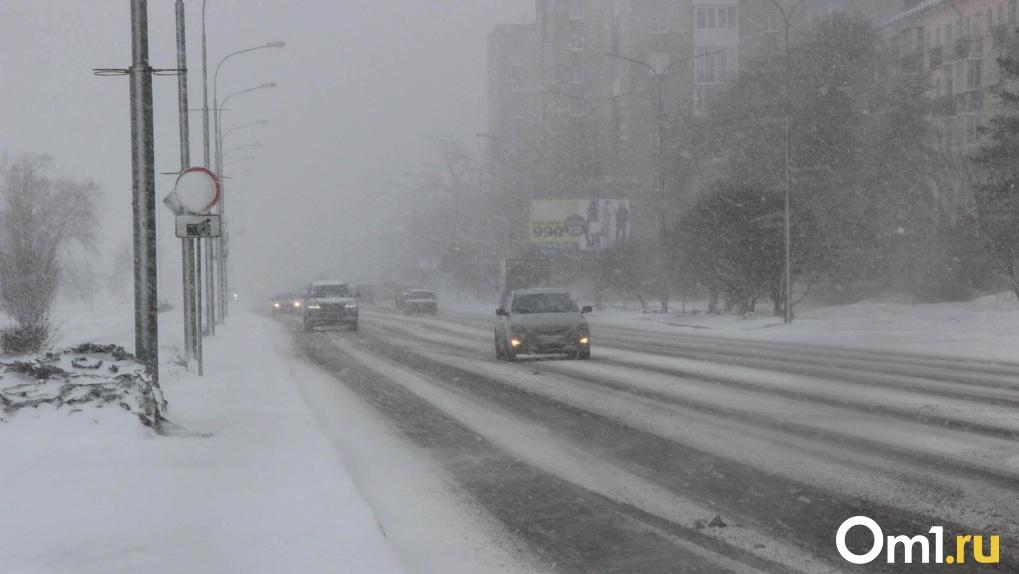 Аномальный снегопад надвигается на Новосибирск