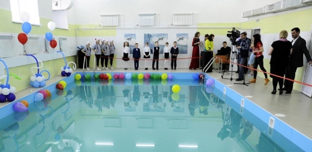 В омской школе за 5 миллионов рублей отремонтировали бассейн