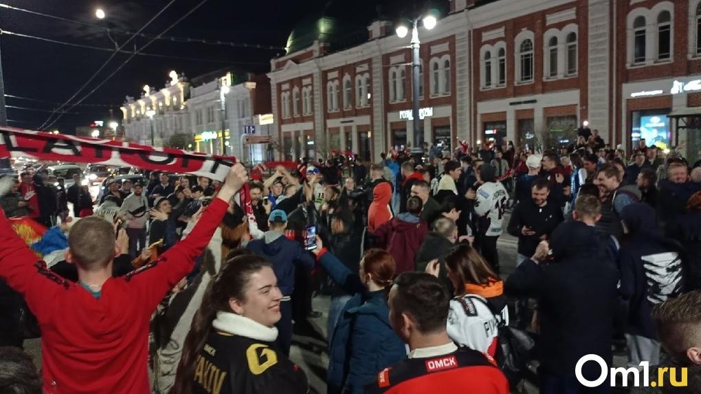 Омск, не спать! Как праздновали победу болельщики «Авангарда»