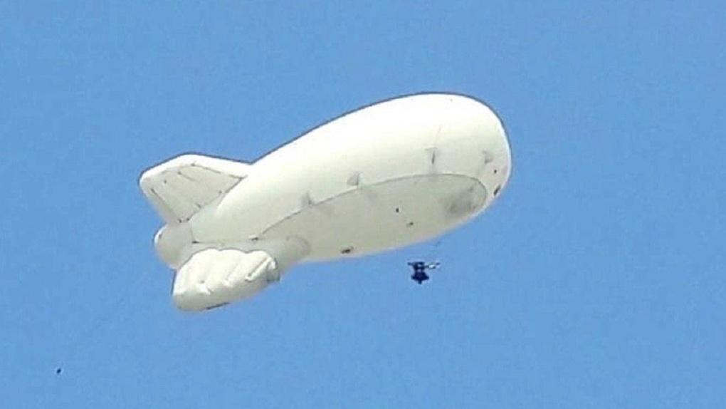 Над Новосибирском запустят огромный летающий шар, который вычислит водителей-нарушителей