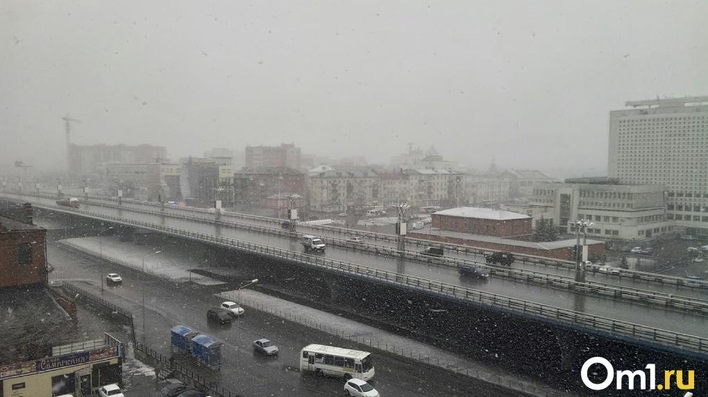 В Омске объявлено штормовое предупреждение, возможно похолодание до -5 и снег