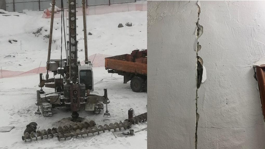 По новосибирской многоэтажке пошла трещина из-за строительства скандального дома