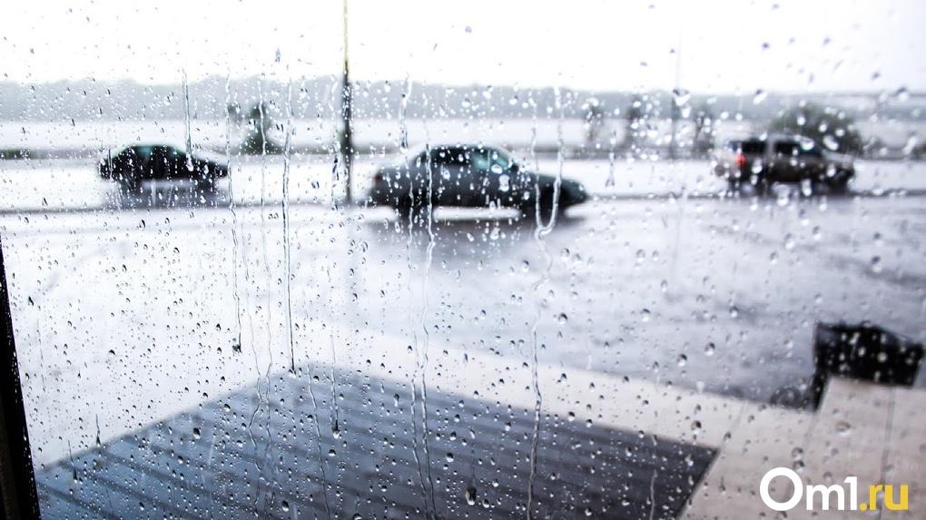 На Омскую область идет сильнейший шторм, несущий ливни, грозу и град