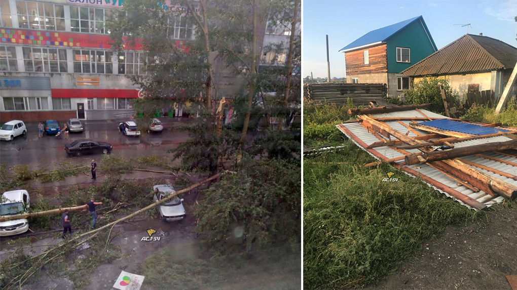 Сдувал крыши, крушил деревья, рвал провода: ураган пронёсся в Новосибирской области