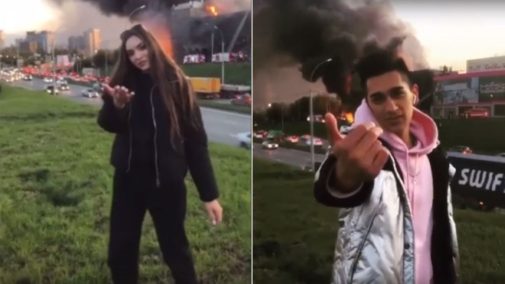 Поколение дебилов: новосибирцы возмутились танцами циничных блогеров на фоне пылающей гостиницы