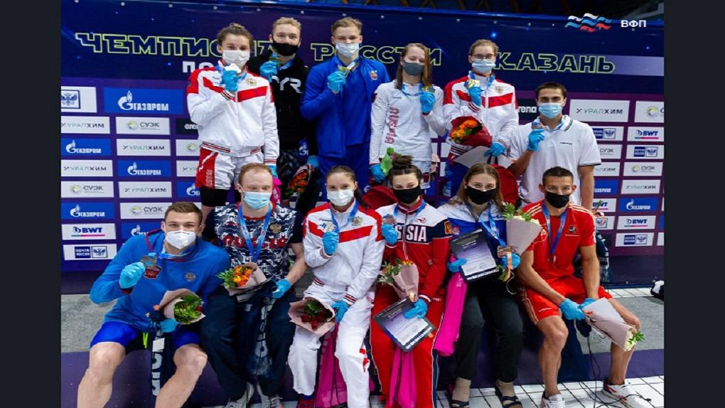 Новосибирцы заняли третье место на чемпионате России по плаванию