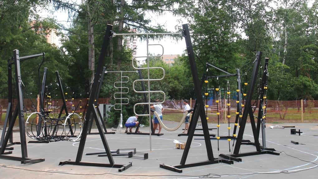 В Центральном парке Новосибирска появится детская площадка с мягким покрытием