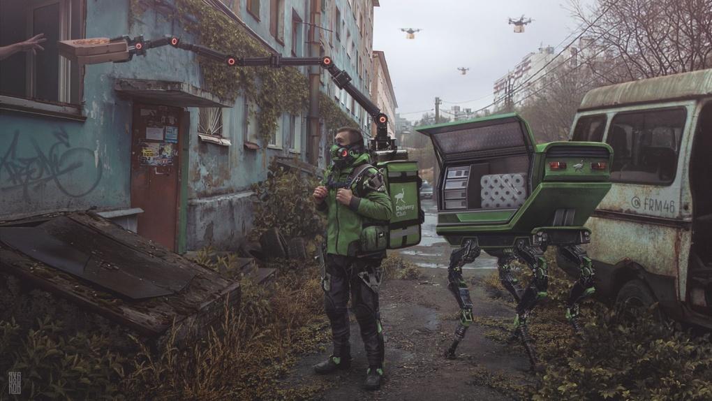 Доставщики туалетной бумаги и люди-зомби: апокалиптический Омск вдохновил художников