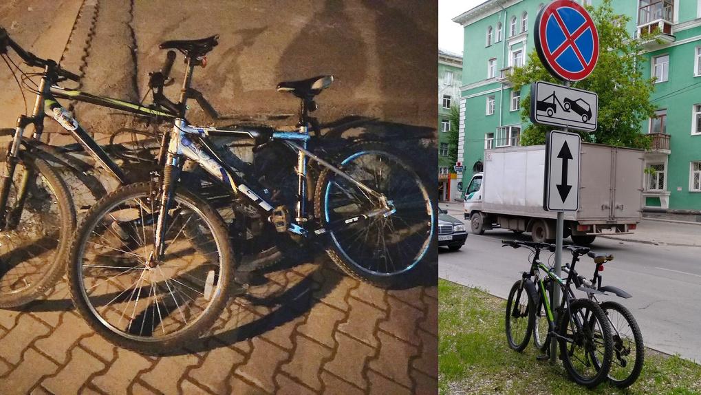Новосибирец лишился сразу двух велосипедов