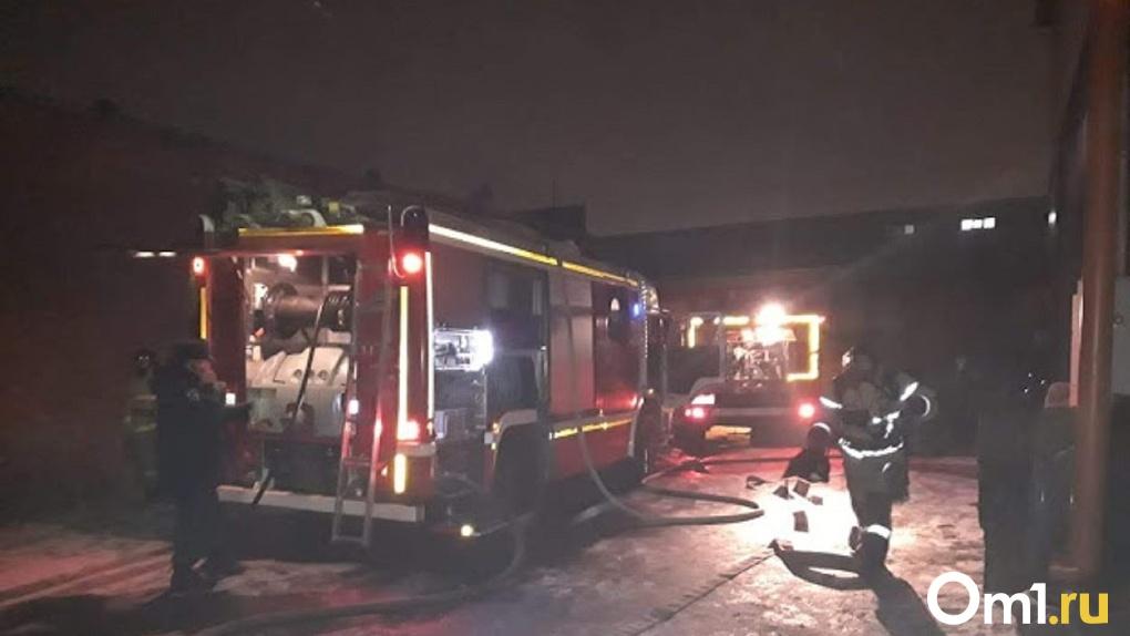 Обрушилась горящая крыша. В Омске в пожаре погибли два человека и четверо получили ожоги
