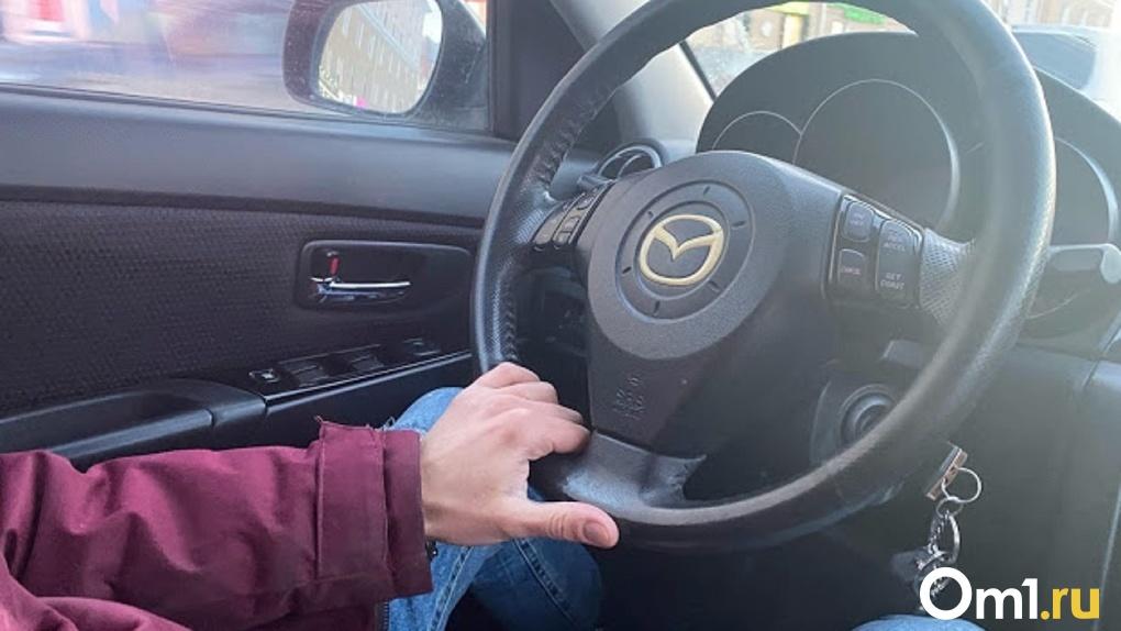 Омский таксист прокатился по пешеходным дорожкам парка Победы