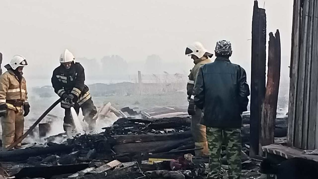 Шокирующая трагедия. Под Омском огонь уничтожил почти всю деревню