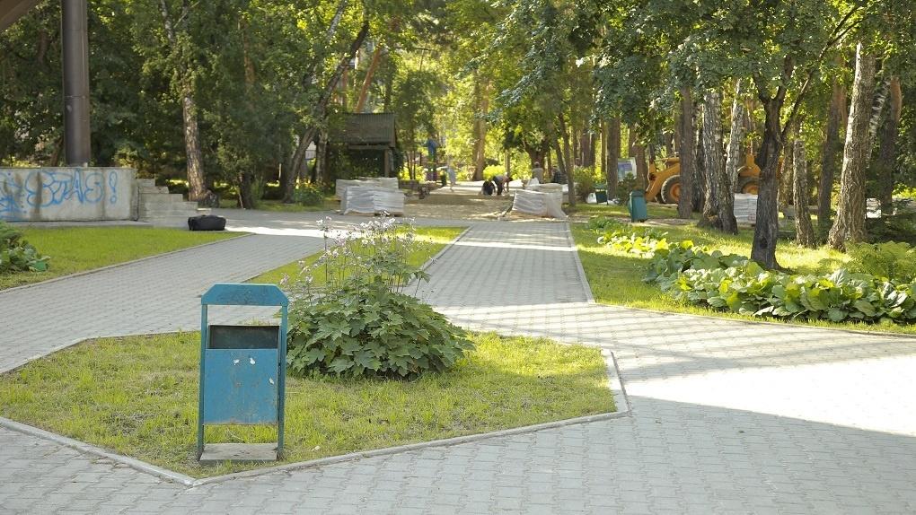 В Новосибирске реконструируют сквер с реликтовыми соснами