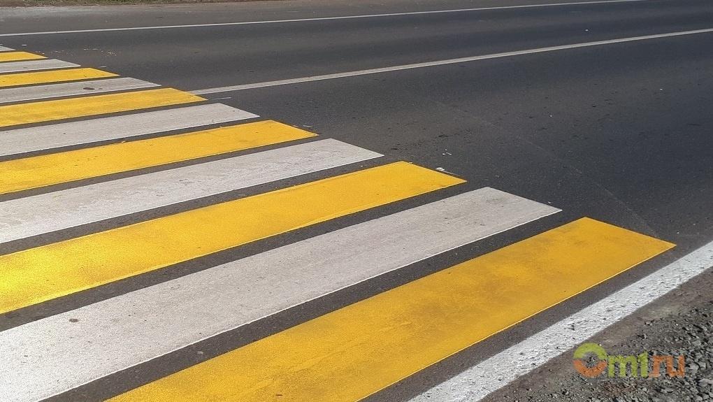 На пешеходных переходах Омска появится новая разметка — СПИСОК