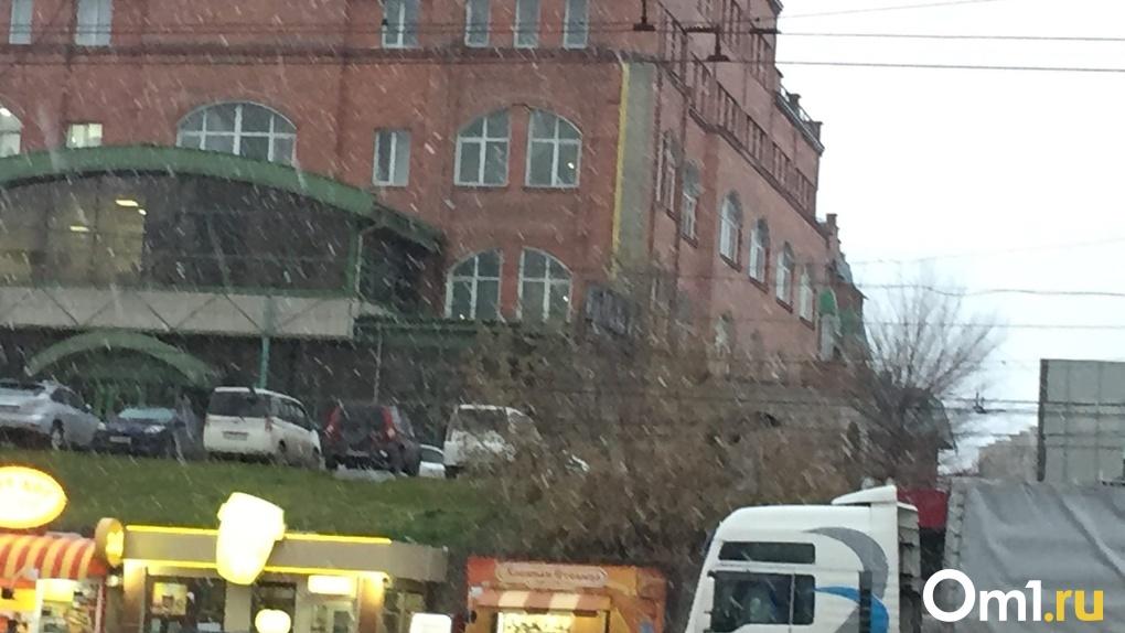 Снежные хлопья обрушились на Новосибирск