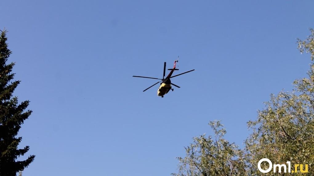 В Омске на парковке обнаружили боевой вертолёт