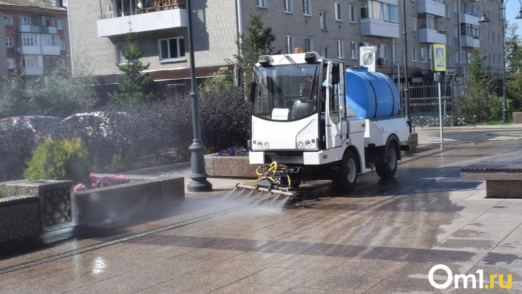В омских Нефтяниках размазывали грязь, хотя должны были её убирать
