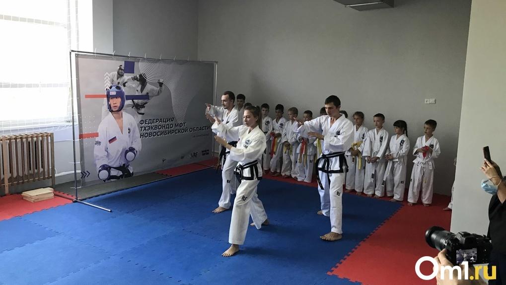 Больше возможностей для спорта: в новосибирской школе № 45 открыли зал тхэквондо