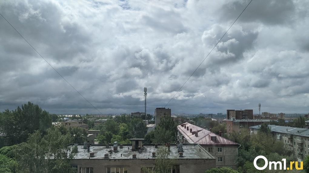 Рабочая неделя в Омской области начнётся с грозы и града