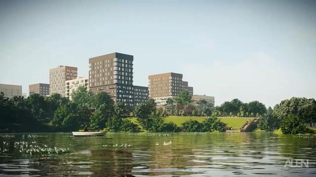 В Новосибирске возведут уникальный жилой комплекс с набережной и сиреневым садом