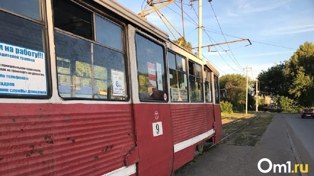 Московский трамвай попал в ДТП в Омске