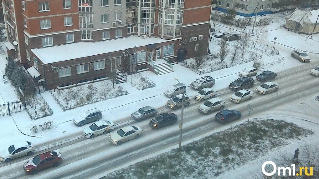 Онлайн-карта пробок: в Новосибирске произошло пять ДТП за утро