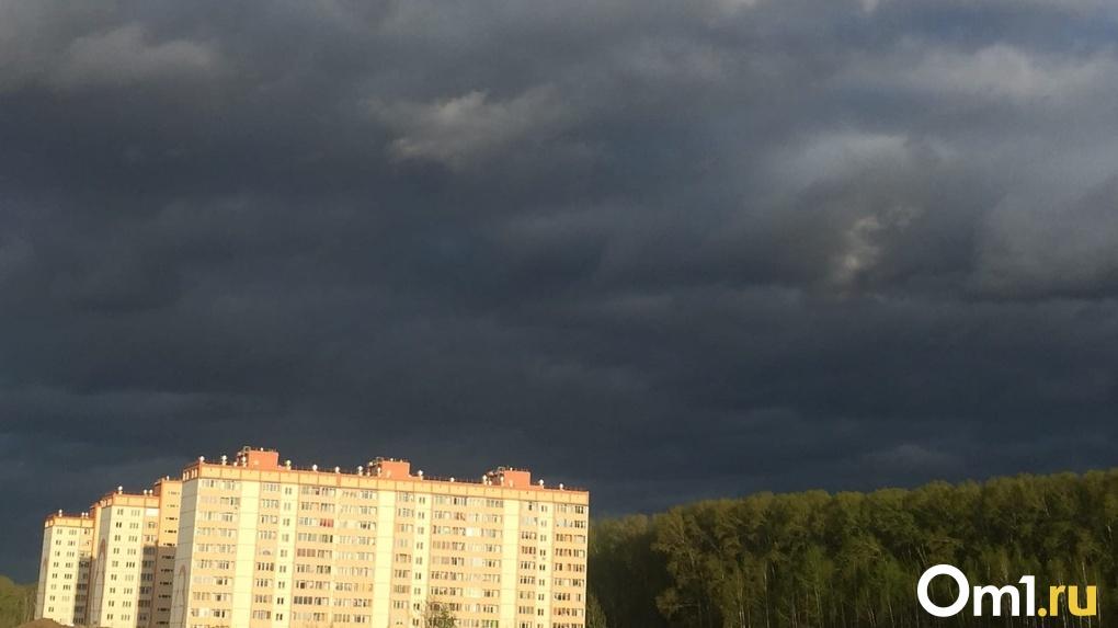 Мощный ливень и гроза надвигаются на Новосибирск
