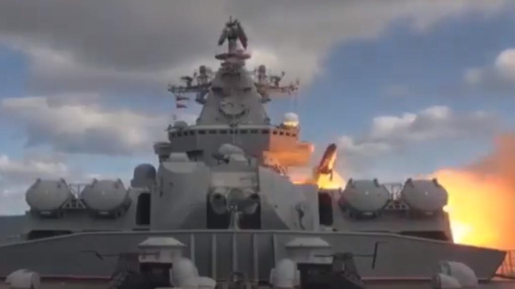 Атомный крейсер «Омск» взорвал цели с помощью ракет у берегов Аляски. Видео