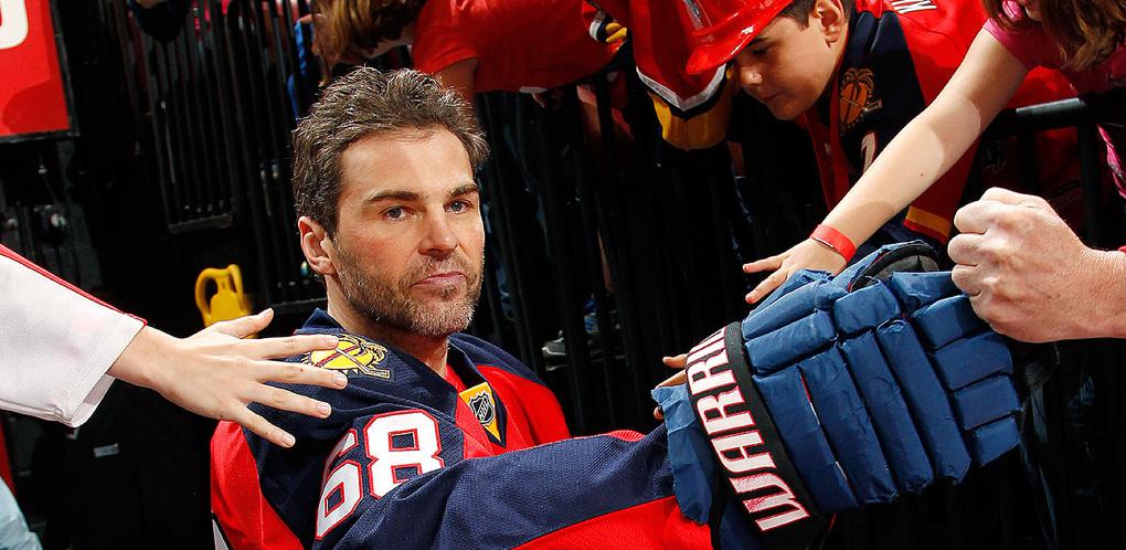 Экс-игрок «Авангарда» Ягр стал вторым в списке лучших бомбардиров НХЛ
