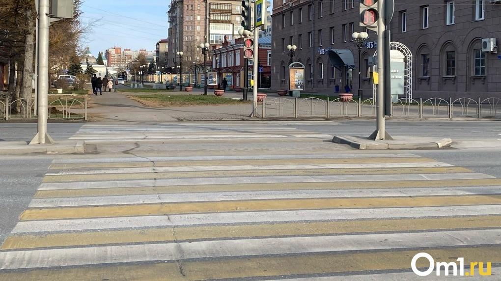 Пешеходный переход перенесли в центре Новосибирска