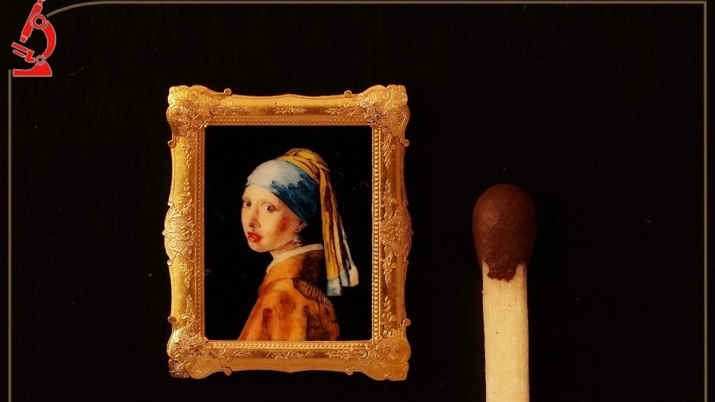 Новосибирский «Левша» создал миниатюрную копию знаменитой картины великого художника