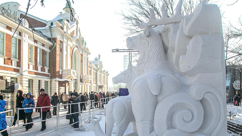 XX фестиваль снежной скульптуры стартовал в Новосибирске