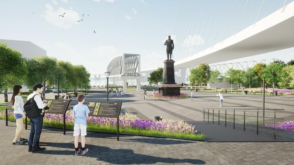 Семь ярких фото: опубликован проект благоустройства новосибирского парка «Городское начало»