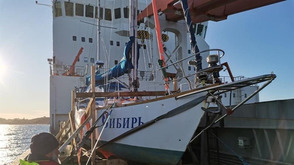 В Омск вернулась яхта «Сибирь», которая больше года провела в кругосветном путешествии
