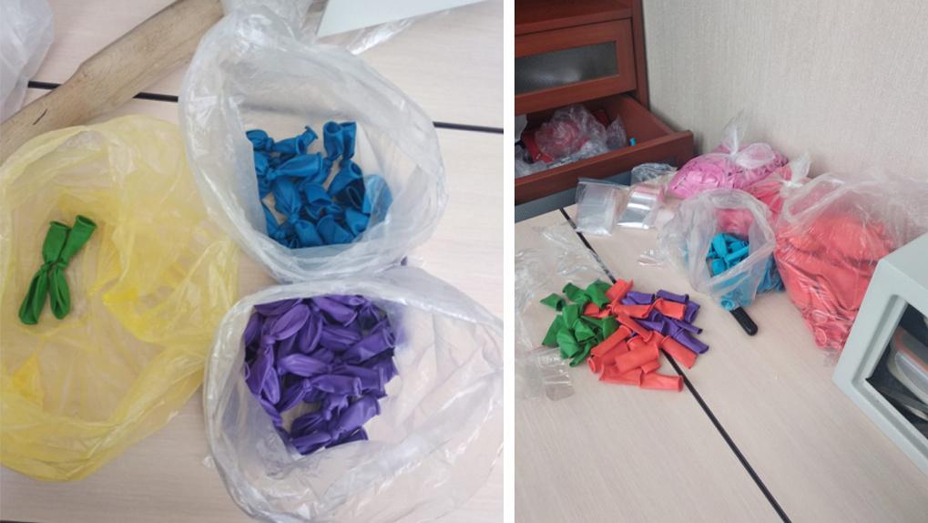 Семья новосибирцев продавала наркотики в воздушных шарах