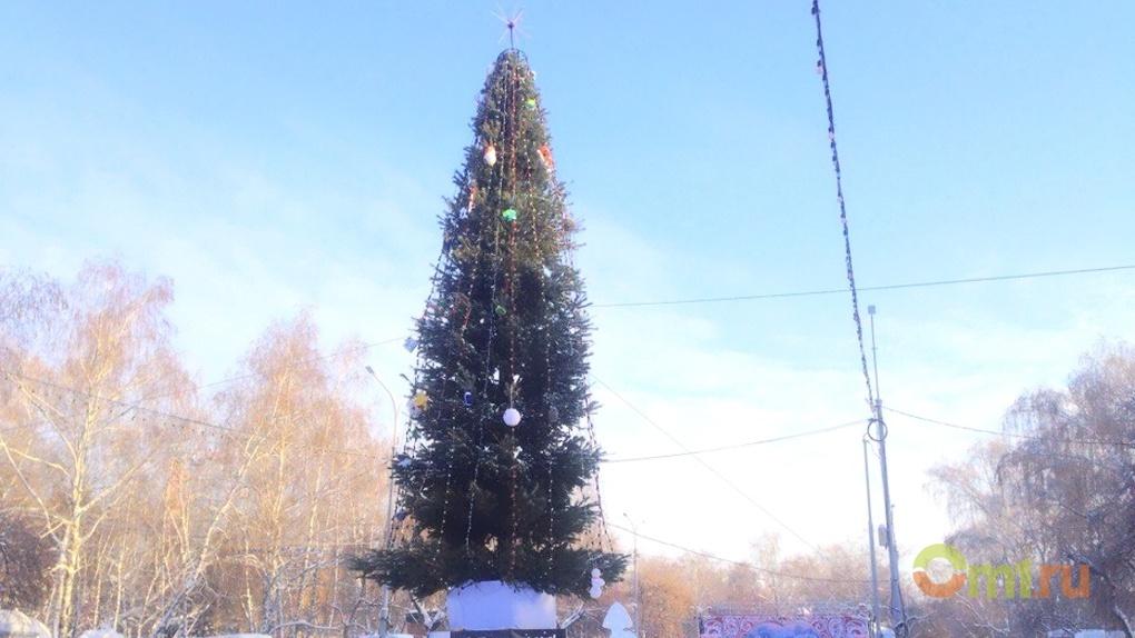 В Омске Городскую елку подсветят за 210 тысяч рублей