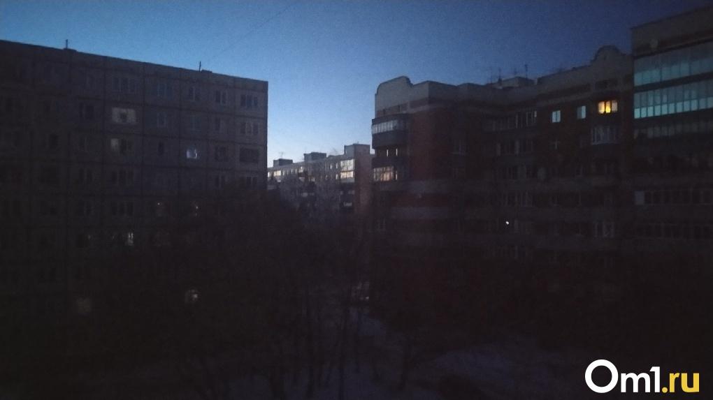Жители Советского округа Омска внезапно остались без электричества