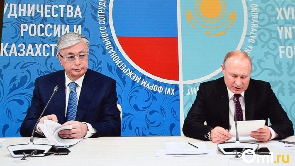 Закуски, горячее и вино: чем в Омске ужинают президенты России и Казахстана