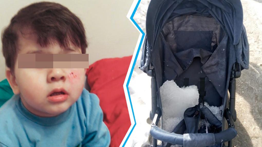В Новосибирске глыба льда рухнула на годовалого ребенка